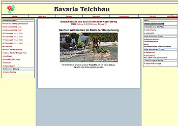 Alte Website | Bavaria Teichbau München