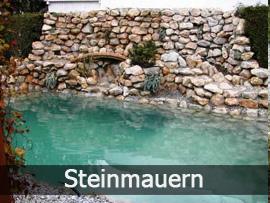 Steinmauern | Bavaria Teichbau
